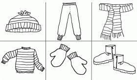 preschool coloring pages winter clothes coloring coloring home