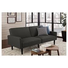 linen futon with arms gray room essentials target