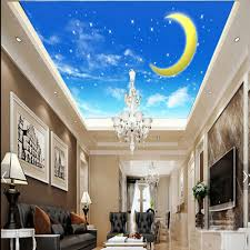 online get cheap blue moon wallpapers aliexpress com alibaba group moon star blue skype ceiling photo wallpaper wall mural for kids bedroom wall decor home improvement