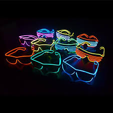 best christmas gift neon led light glow el wire strip tube glasses