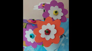 easy diy foam flower craft in a paper cup flower pot for kids
