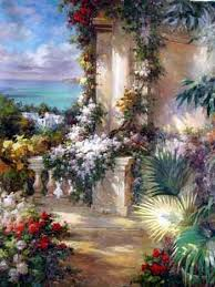 oil paintings of flower gardens garden oil paintings garden garden