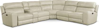 newport 6 piece power reclining sectional with 2 reclining seats