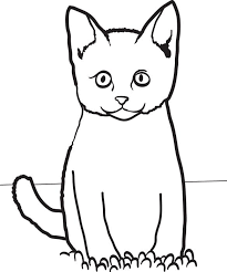 coloring page of a kitty cat coloring pages free download best cat coloring pages on
