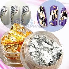 24pcs golden u0026 silver foil flakes leaf set for nail art