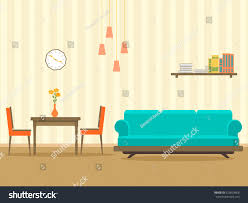 interior design flat style living room stock vector 623603468