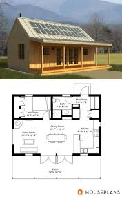solar power cabin style house plan 1 beds 1 baths 704 sq ft