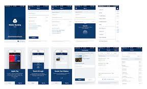 boa inspired mobile banking app sketch freebie download free