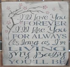 ll love you forever 11 5 x 11 5
