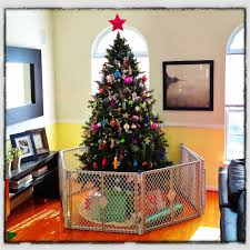 baby gate for christmas tree home decorating interior design