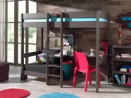 chambre en pin massif pas cher lit mezzanine en pin massif pino avec bureau et couchage d appoint