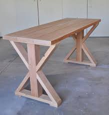 Plans For Outdoor Wood Table by Best 25 Diy Wood Table Ideas On Pinterest Diy Table Diy Bench