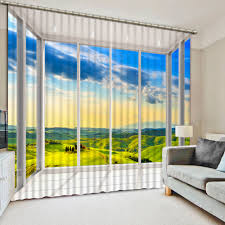 Yellow Curtains For Living Room Online Get Cheap Window Drapes 3d Aliexpress Com Alibaba Group