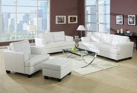 Living Room With White Furniture White Leather Living Room Furniture