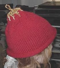 free knitting pattern for christmas ornament hat