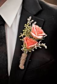 coral boutonniere turquoise and coral diy wedding ceremony on the chesapeake bay