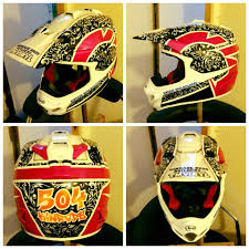motocross helmet painting karting u0027s newest helmet painter karting mag