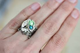 grandmothers ring mothers ring birthstone ring custom made steunk barrel