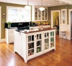 cuisine bois peint design interieur cuisine îlot central buffet armoires bois peint