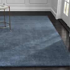 Crate And Barrel Bath Rugs Baxter Blue Wool Rug Crate And Barrel