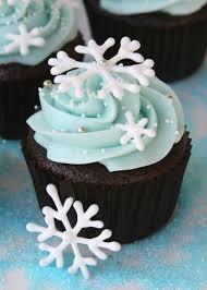 snowflake cupcakes creative food and cake