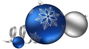 silver and blue balls decoration clipart image
