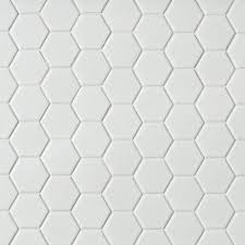 metro white matte hexagon porcelain mosaic 12in x 12in