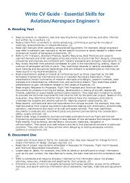 Aviation Resume Examples by Write Cv Guide Essential Skills For Aviation Aerospace Engineer U0027s
