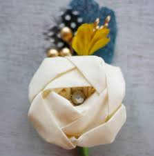Boutonniere Flower How To Make A Fabric Flower And Feather Boutonniere A Recipe And