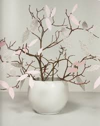 Branches In A Vase Diy Spring Home Decor Vase Branches Paper Leaves Pink Newspaper