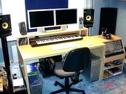 Diy Recording Desk Home Recording Desk Studio Desks Throughout Simple