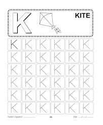 capital letter writing k printable coloring worksheet