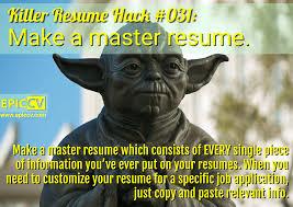 Fictional Resume Killer Resume Hacks