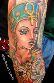 queen nefertari tattoo almost 100 egyptian tattoos that will blow your mind tattoos beautiful