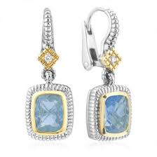 judith ripka earrings judith ripka sterling silver and 18kyg blue topaz and diamond
