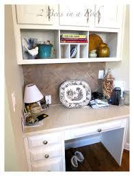 Kitchen Desk With Hutch Kitchen Desk Update 2 Bees In A Pod
