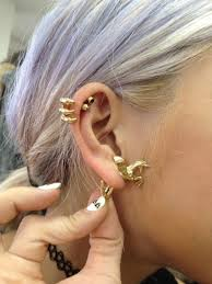 gold piercing rings images Jewels gold earrings claw unicorn helix piercing earrings jpg