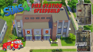 fire station floor plans design the sims 4 speed build fire station youtube
