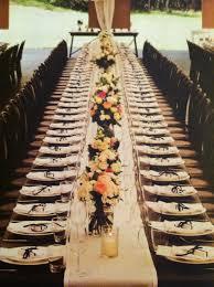 Long Table Centerpieces Long Wedding Table Décor Ideas Black Bear Crossings Café And