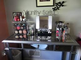 3 Piece Vanity Set Mirrored Vanity Set With Storage Doherty House Mirrored Vanity