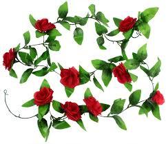 1 x 8 2ft artificial silk rose flower ivy vine leaf garland