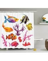 here u0027s a great deal on seashells decor shower curtain set summer