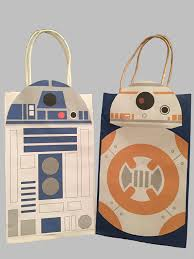 wars gift bags wars r2d2 bb8 party favor bag printable by galacticparty
