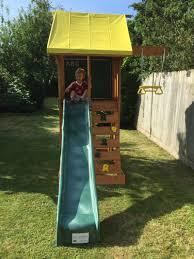 holt small garden climbing frame with slide u0026 swing