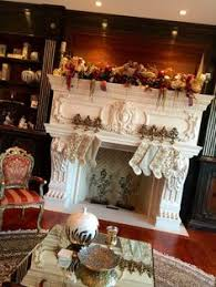 fireplace mantel garland stair swags door