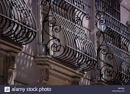 ornate scroll design wrought iron window grills vienna austria