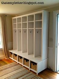 ana white mudroom locker and bench unit diy projects