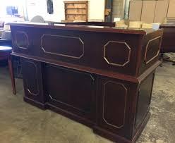 Mobile Reception Desk L Shaped Reception Desk Desks Used Office Furniture Oec