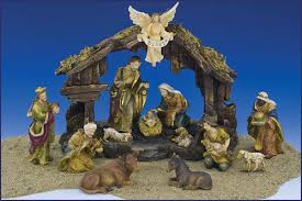 4 5 13pc resin nativity set with stable