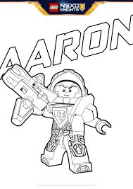 aaron coloring page colouring page activities nexo knights